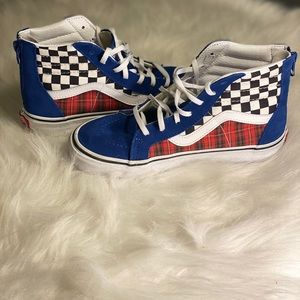 Unisex - Vans Hi Shoes True Blue/Racing Red